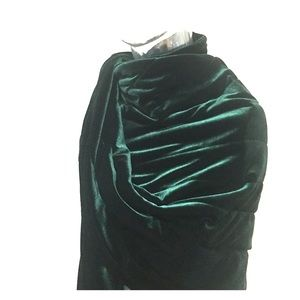 Soft Emerald Green Velvet Stole Shawl